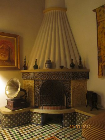 Dar el-Ghalia: The Bedroom Fireplace