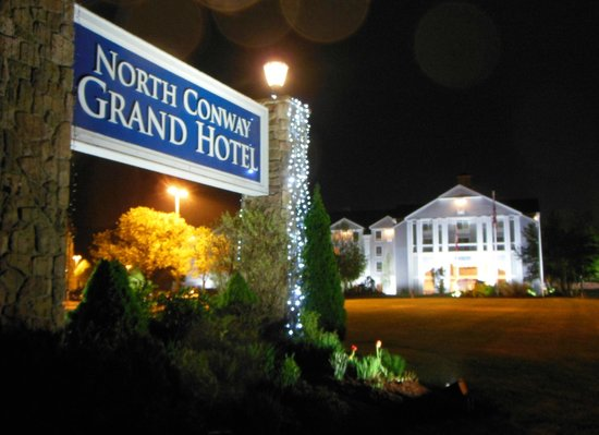 North Conway Grand Hotel Exterior at Night