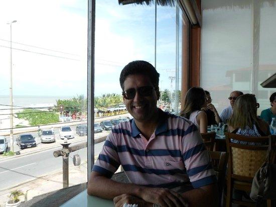 Cabana do Sol : Essa é das melhores mesas do restaurante, para apreciar a paisagem