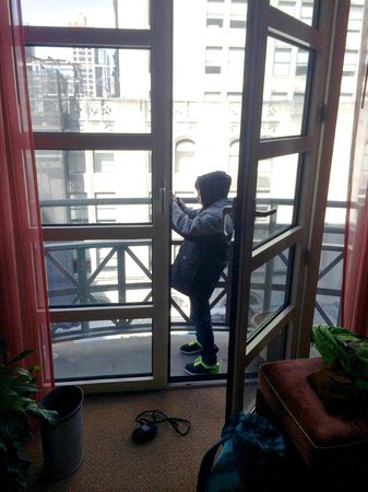 Hotel Giraffe: kid snaps from 706 balcony