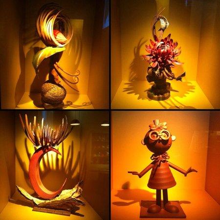 Cité du Chocolat Valrhona : Sculptures en chocolat #valrhona