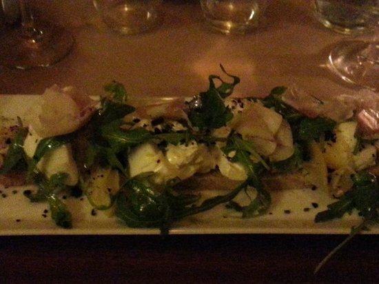 Le Bistro du Fromager : Salade avec Bourrata.