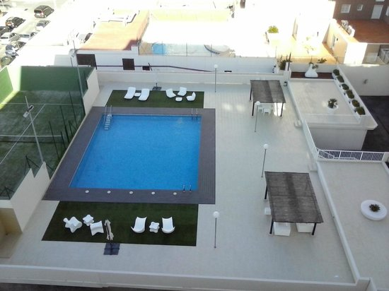 RH Bayren Hotel & Spa: View of swimming pool from room