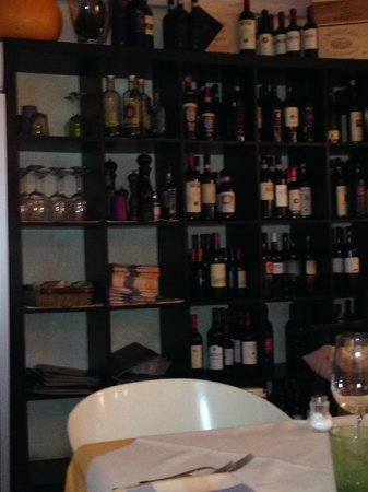 Osteria da Rosolo: la cantina dei vini