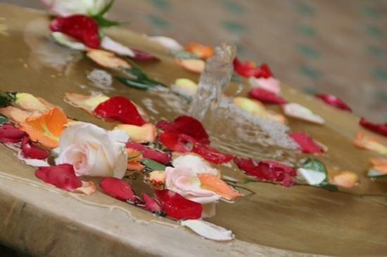 Riad Dar Dialkoum: Fountain in Dining Area