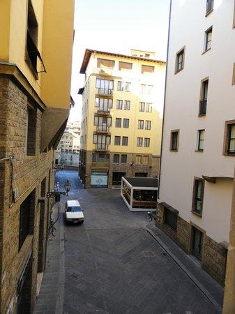 Residenza Castelli: Vista desde la habitacion. (al fondo se ve el rio Arno)