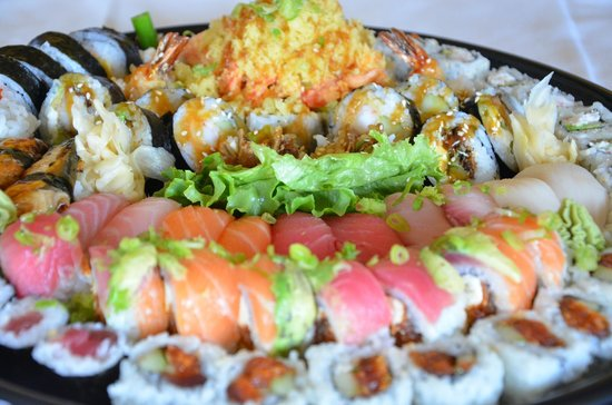 """Imperial Dynasty Chinese and Japanese Cuisine: Sushi & Roll Platter 18"""""""