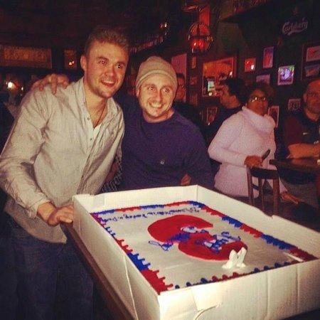 Three Lions Pub: 3rd Birthday Cake off the Staff