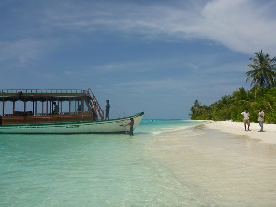 TME Retreats Dhigurah : Arrival at the hotel beach