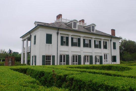 Evergreen Plantation: il retro della villa