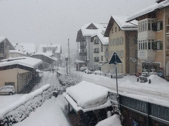 Villa Aurelia: Dalla nostra finestra durante una nevicata