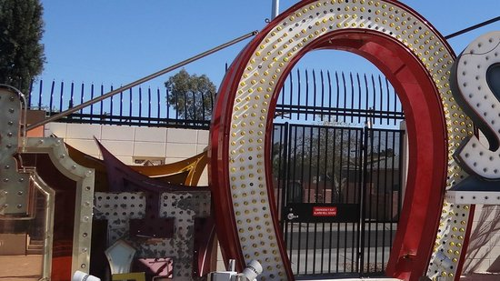 The Neon Museum: upsidedown horseshoe doses not mean good luck