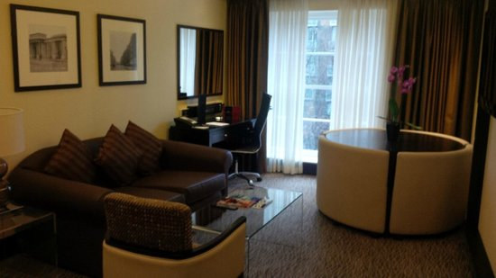 """The Montcalm London Marble Arch: separate sitting area of """"WOW"""" suite"""