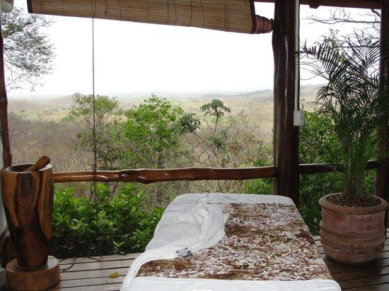 Los Altos de Eros: view from massage table
