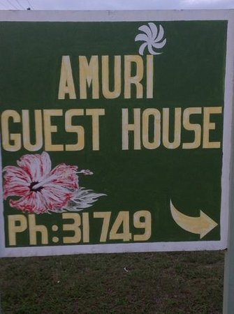 Amuri Guesthouse : Road Sign