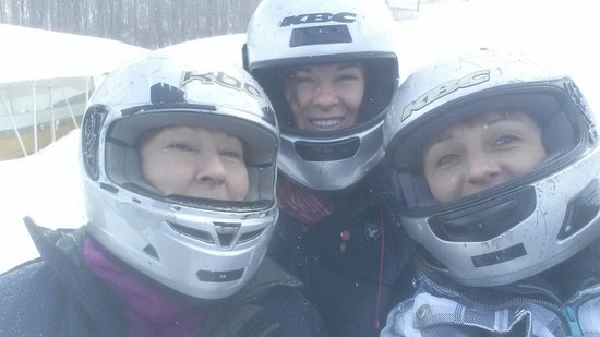 Bobsled and Luge Complex : March 16 2014 waiting in 4 degrees but having a blast