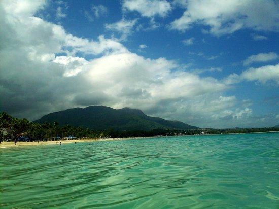 Grand Paradise Playa Dorada : La montagne au loin qu'on voyait de l'hôtel, c'est la ou se trouve ''El Teleferico''