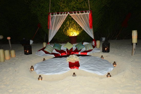 Taj Exotica Resort & Spa: Plan a special night and let the Butler surprise you.
