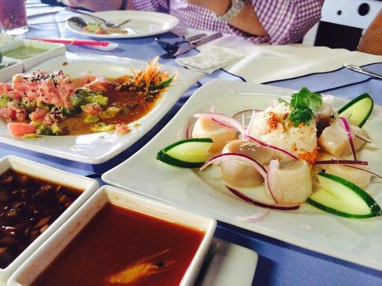Villa Marina : Callo de hacha y tartar de atún