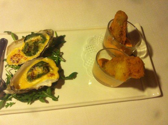 Hotel Casa Irene: Aperitivo de ostras y calçots