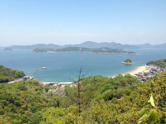 Shiraishi  Island : View from the top of the Island