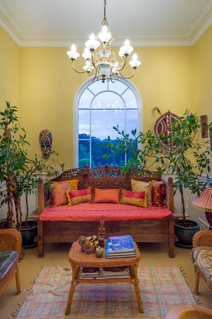 The Ambers Luxury B&B: The upstairs landing with a picture window