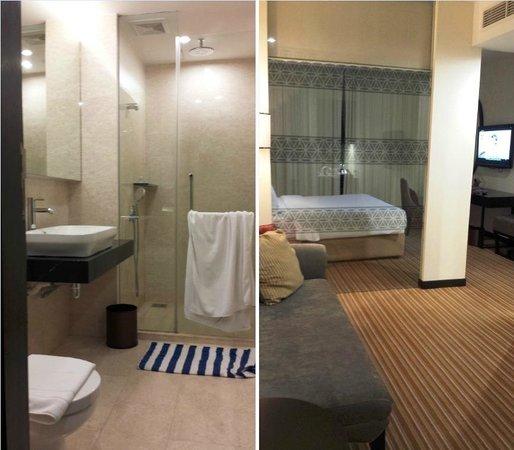 Hatten Hotel Melaka: View of bathroom, sofa and bed