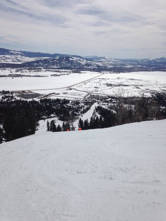 Jackson Hole Mountain Resort: Groomed run at later afternoon