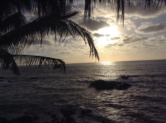 Playa Escondida: atardecer desde la habitación