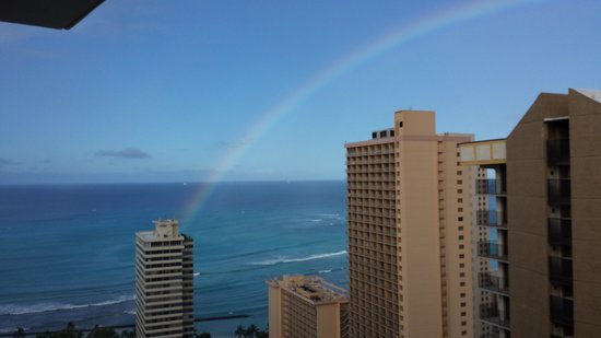 Waikiki Banyan : morning rainbow