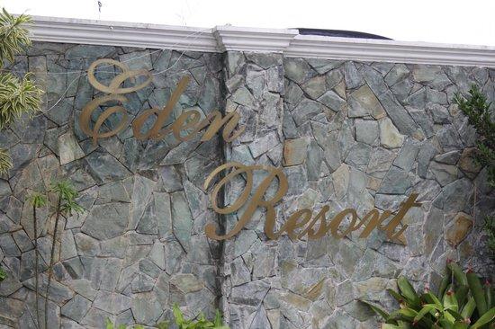 Eden Resort front fence