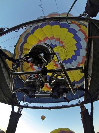 Napa Valley Aloft Balloon Rides: inside of the balloon