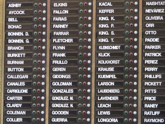 State Capitol : Votes board