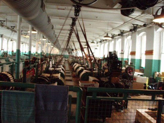 Lowell National Historical Park: The Weaving room