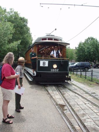 Lowell National Historical Park: The museum trolley
