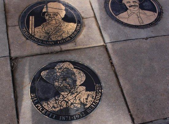 Black American West Museum: Honorary plaques in museum walkway