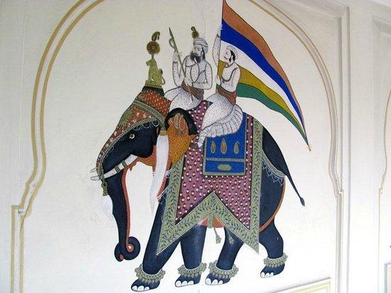 The Raj Palace Grand Heritage Hotel: mural