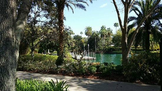 Hard Rock Hotel at Universal Orlando : Outside on walkpath to parks