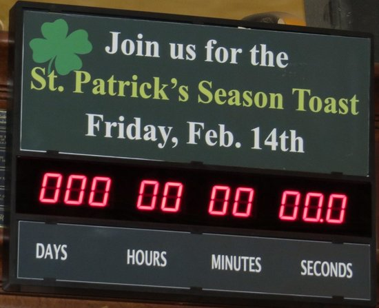 BD Riley's Irish Pub Downtown: Countdown Expired, Ready for next year!