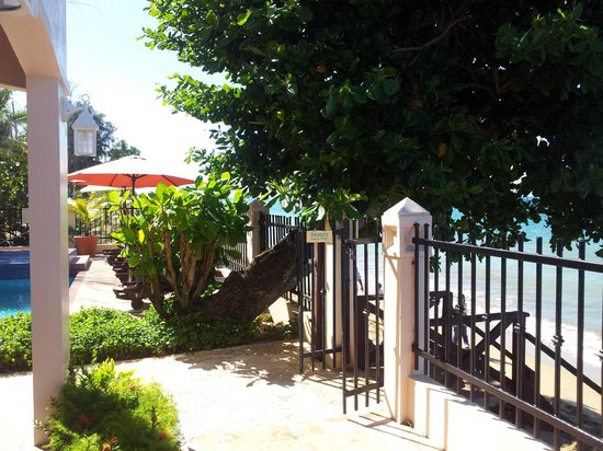 Tres Sirenas Beach Inn: Steps walking down to the beach