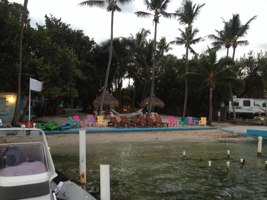 Seafarer Resort and Beach: The beach from the dock