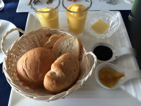 Hotel Seashore Mitsumisaki: 朝食(人参とかぼちゃムースディップ)