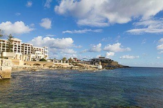The Westin Dragonara Resort, Malta: view of hotel, casino, and water