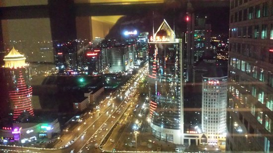 Park Hyatt Beijing: Night View from suite