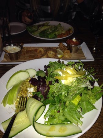 Rio Chama Steakhouse: The goat cheese salad is yummy!