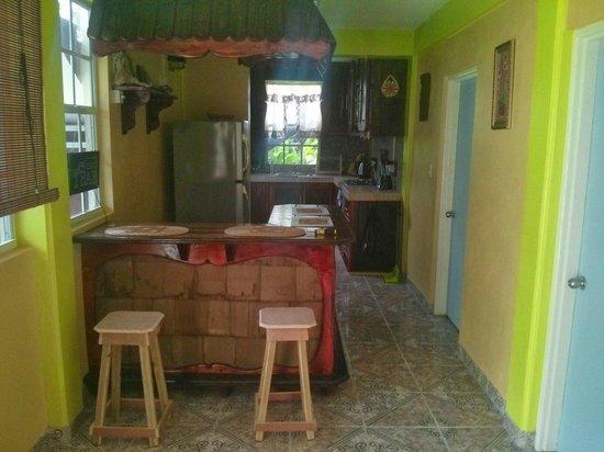 The Nixons Bay Side Mangrove Inn: Downstairs kitchen