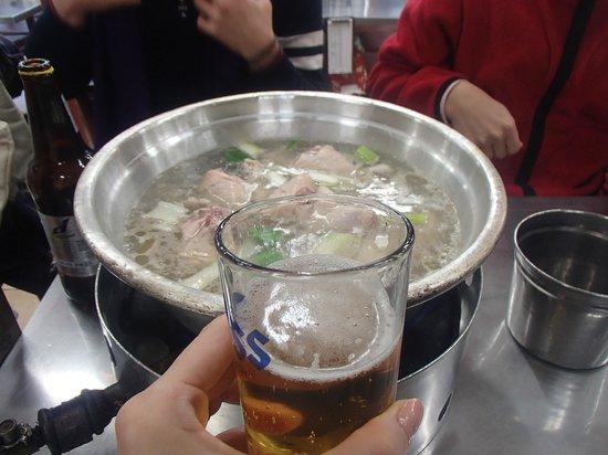 Myeongdong Dakhanmari Main : with beer!