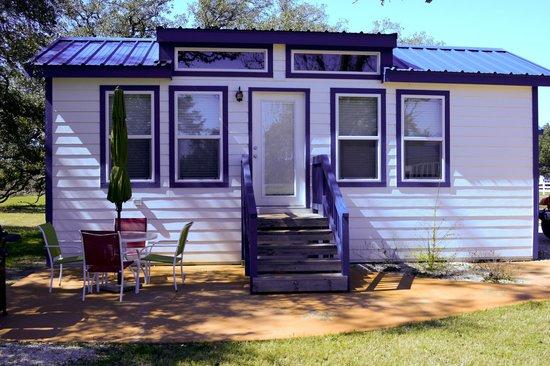 Victoria / Coleto Creek Lake KOA: Outside of Deluxe Cabin