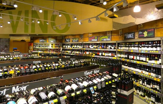 Number of places you'll find a wine bar in a super market in BC : 0