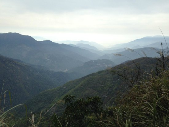 Taiwan Adventures: View from the beginning  of the trail.